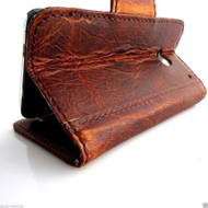genuine italian leather Case for HTC ONE book wallet handmade cover ID flip  m7 skin slim retro