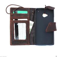 genuine italian leather hard Case for HTC ONE book wallet handmade cover ID flip  m7 skin slim retro