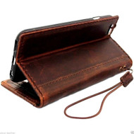 genuine italy leather hard case for iphone 6 cover book wallet credit card magnet luxurey