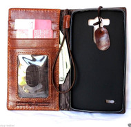 genuine italian oiled leather hard Case for LG G3 slim book luxury pro wallet handmade MAGNET close