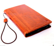 genuine oil cow leather hard case for iphone 5s 5c 5 cover book wallet credit card c s flip handmade luxury ! gift