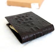 Men Money Clip Genuine Leather wallet Pocket Purse crocodile Card Billfold slim it
