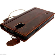 genuine oil leather hard case for Galaxy NOTE 4 LEATHER CASE cover  book pro wallet stand  flip free shipping luxury uk