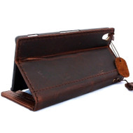 genuine real vintage leather Case fit For sony Xperia Z3 book wallet 3 z handmade it