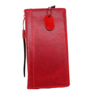 genuine italy real leather case for iphone 6 plus cover 6s+ book wallet band credit card id business slim flip free shipping red