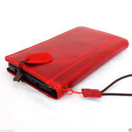 genuine vintage leather hard case for Galaxy NOTE 4 book wallet cover red slim cards slots stand  flip free shipping luxury uk daviscase