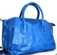 Genuine leather woman bag Tote Hobo Handbag Shoulder Messenger Purse Satchel 70s free shipping blue