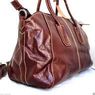 Genuine leather woman bag Tote Hobo Handbag Shoulder Messenger Purse Satchel 70s free shipping brown retro