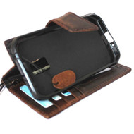 genuine soft leather Case for Samsung Galaxy S5 active s 5 SM-G870A book wallet handmade il