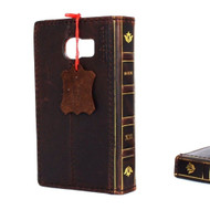genuine italian natural leather Case for Galaxy s6 book wallet cover Davis