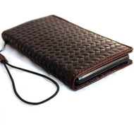 genuine real vintage leather Case fit For sony Xperia Z3 book wallet 3 z handmade jp