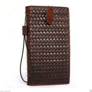 genuine italy leather case for iphone 6  4.7 book wallet cover credit card slots luxurey flip brown slim R free shipping  new daviscase