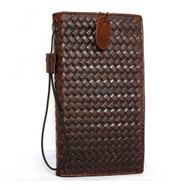genuine leather case for HTC one m8 book wallet cover cards slots stand slim brown flip free shipping us daviscase