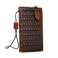 genuine italian leather case for iphone 5s 5c 5 SE book wallet cover credit cards slots flip handmade luxury brown slim daviscase