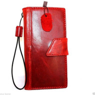 genuine italian real leather case for iphone 6 plus cover 6s+ book wallet band credit card id magnet business slim flip free shipping red