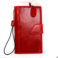 genuine natural leather hard case for Galaxy NOTE 4 book wallet magnet cover free shipping cards slots luxury red slim daviscase