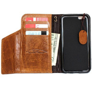genuine oiled italy slim leather case for iphone 6  4.7 cover book wallet credit card premium