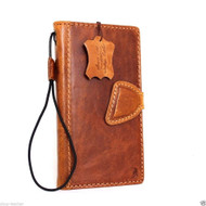 genuine italian oiled leather Case for Htc One M9 book wallet luxury cover s Businesse premium IL