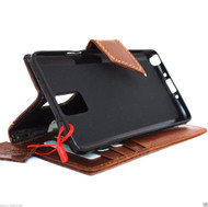 genuine natural leather hard case fit for Galaxy NOTE 4 LEATHER CASE  handmade cover book pro wallet magnet