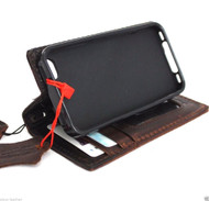 genuine oiled leather case for iphone 4s cover s 4 book wallet stand handmade Davis Case R