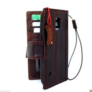 genuine real leather hard case for Galaxy NOTE 4 LEATHER CASE  handmade cover book wallet davis magnet