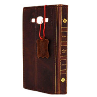 genuine vintage leather Case for Samsung Galaxy A8 book wallet Luxury A cover 8 slim