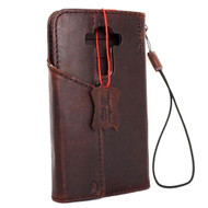 genuine vintage leather Case for LG G4 slim cover book luxury pro wallet handmade MAGNET close