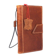 genuine oiled leather Case for Samsung Galaxy note edge book Retro wallet luxury cover s Businesse