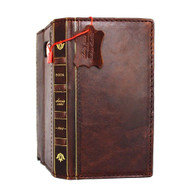 genuine vintage leather Case for Samsung Galaxy note 5 Bible book wallet luxury cover 5 slim