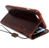 genuine vintage leather case for iphone 6s plus cover book wallet credit card id magnet business slim au