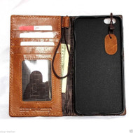 genuine vintage leather case for iphone 6s plus cover book wallet credit card id magnet business lite slim uk