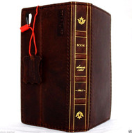 genuine vintage italian oiled leather Case Fit for sony Xperia Z5 book wallet 5 z handmade IL