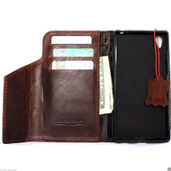 genuine vintage italian leather Case  for sony Xperia Z5 book wallet 5 z hand made IL