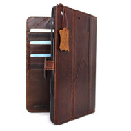 genuine real Leather Bag for iPad 4 3 2 case cover handbag apple stand magnet 3g daviscase