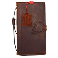 genuine vintage leather Case for Samsung Galaxy S6 Edge Plus book wallet magnet cover slim luxury brown 6 thin daviscase