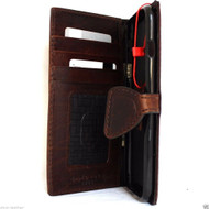 genuine vintage leather case for iphone 6s plus cover book wallet credit card id magnet business slim 6 s pro