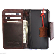 genuine italian oiled  leather slim case for iphone 6s  4.7 cover book wallet credit card magnet luxurey flip safe magnet close