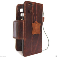 genuine vintage leather case for iphone 6s plus cover book wallet credit card id safe magnet business slim IL pro