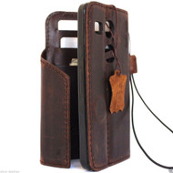 genuine italian oiled  leather slim case for for LG Nexus X5 cover book wallet credit card magnet luxurey flip safe magnet close