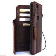 genuine vintage leather Case for Huawei Nexus 6P book wallet luxury cover p 6 pro