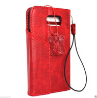 genuine vintage leather Case for Samsung Galaxy note 5 book wallet luxury magnet cover red slim cards slots daviscase