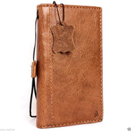 genuine vintage leather Case for Samsung Galaxy note 5 book cards wallet luxury cover slim light brown thin daviscase