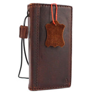 Genuine oil vintage leather Case for Huawei Nexus 6P book wallet luxury cover p 6 pro JP slim brown daviscase