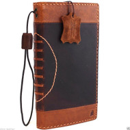 genuine vintage leather case for iphone 6s plus sport cover book wallet credit card id safe magnet business slim IL pro