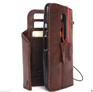genuine Leather case hard Cover for Motorola Moto G 3rd gen Wallet Phone skin Retro style clip