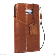 genuine real leather Case for Samsung Galaxy S6 Edge Plus book wallet luxury magnet cover 6 slim s Art vintage brown daviscase