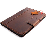 genuine natural Leather Bag for iPad mini 4 case cover handbag apple air slim magnet  Art