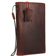 genuine vintage leather Case for Samsung Galaxy S7 Edge book wallet luxury cover cards slots brown slim daviscase