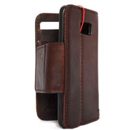 genuine vintage leather Case for Samsung Galaxy S7 Edge book wallet luxury cover 7 slim magnet