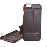 Genuine Real leather case for iphone 6s plus cover book wallet band credit card id business slim flip davis case 6+